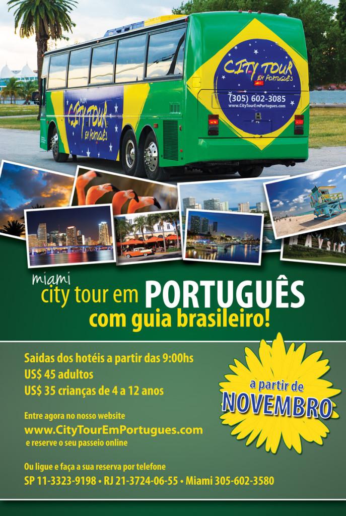 Eagle Tours inaugura o primeiro City Tour para brasileiros em ônibus de turismo em Miami